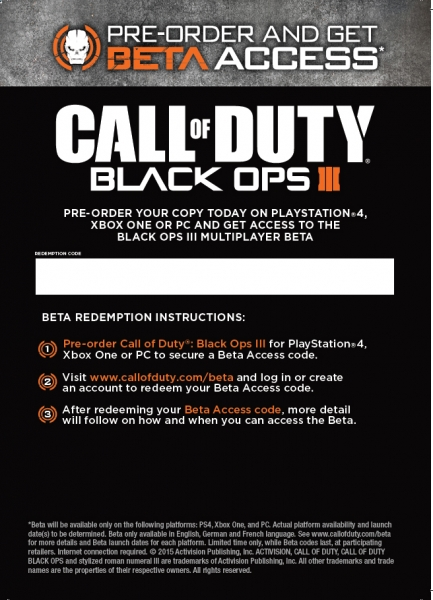 New Pre-order Bonuses Revealed for Call of Duty Black Ops III