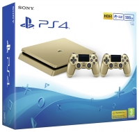 PS4 Slim 500GB Gold With 2 DualS