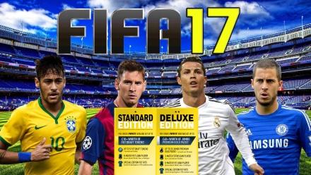 FIFA 17: Neymar Jr, Lionel Messi, Cristiano Ronaldo, Eden Hazard