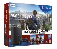 PS4 Slim Bundle With Watch Dogs