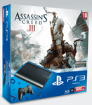 PlayStation 3 500GB console with Assassin's Creed III