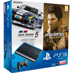 PS3 Console with Gran Turismo Academy and Uncharted 3
