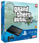 PlayStation 3 500GB console with Grand Theft Auto V
