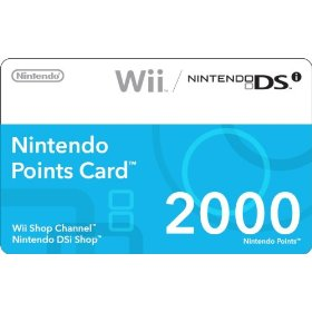 Wii Points Card 2000