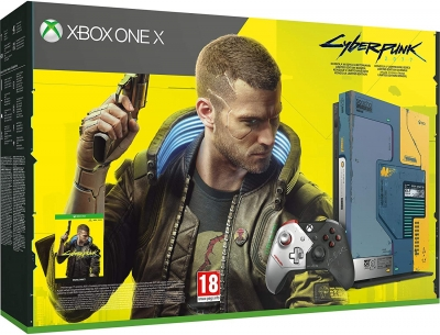 Xbox One X 1TB Limited Edition CyberPunk 2077 Console Bundle