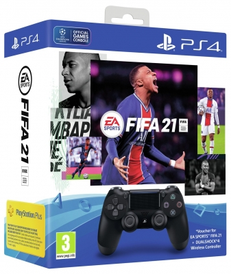 Sony PS4 Dualshock 4 Controller and FIFA 21 PS4 Bundle