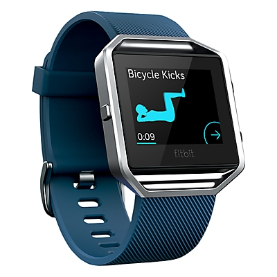 Fitbit Blaze Wireless Activity And Sleep Tracking Smart Fitness Watch Small - Blue