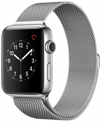 Apple Watch Series 2 42mm Stainless Steel - Silver Milanese Loop
