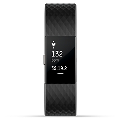 Fitbit Charge 2 Heart Rate And Fitness Tracking Wristband Special Edition Small - Black / Grey