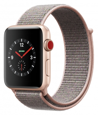 Apple Watch Series 3 Cellular 42mm - Gold Alu Case - Pink Loop