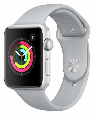 Apple Watch Series 3 GPS 38mm - Silver Aluminium - Fog Band