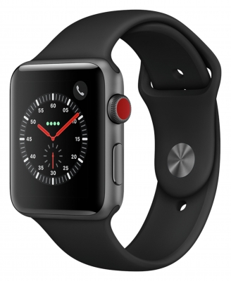 Apple Watch Series 3 Cellular 42mm - Space Grey Alu - Black Band