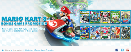 Mario Kart 8 Bonus Game Promotion - Nintendo UK