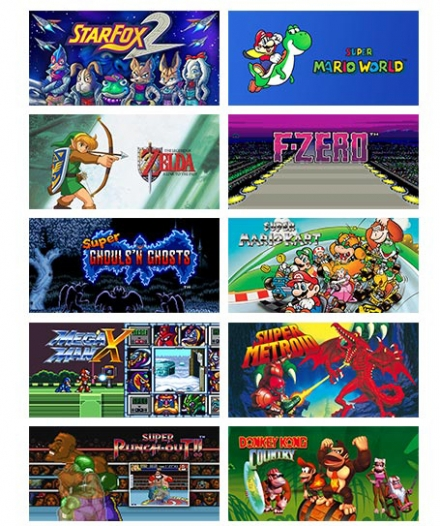 SNES Mini Games 1-10