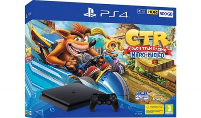 PS4 500GB Console with Crash Team Racing Bundle