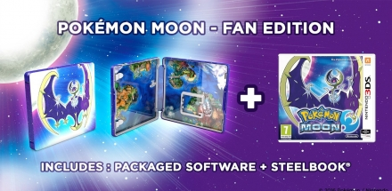 Pokemon Moon 3DS Game with Lunala Steelbook