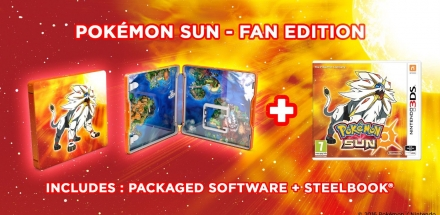Pokemon Sun 3DS Game with Solgaleo Steelbook
