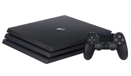 PlayStation 4 Pro Console with V2 DualShock 4 controller