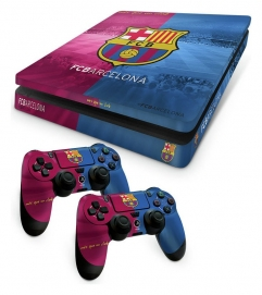 Barcelona FC PS4 Slim Skin Bundl