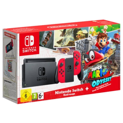 Nintendo Switch Console With Mario Odyssey