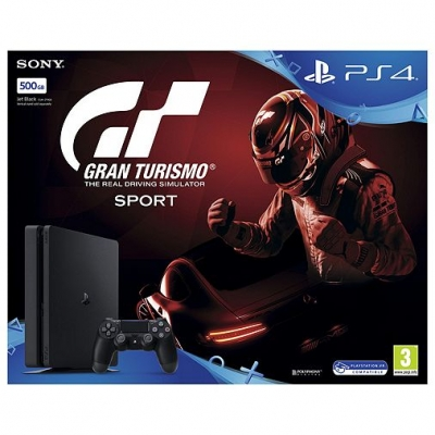 PS4 Slim 500GB Console With Gran Turismo Sport