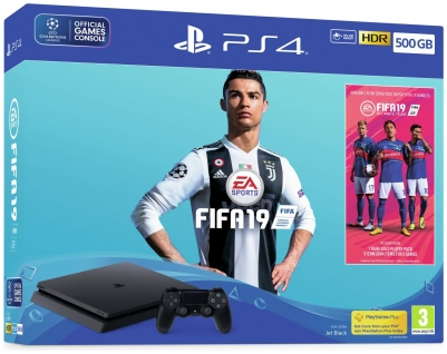 PS4 500GB with FIFA 19 Console Bundle