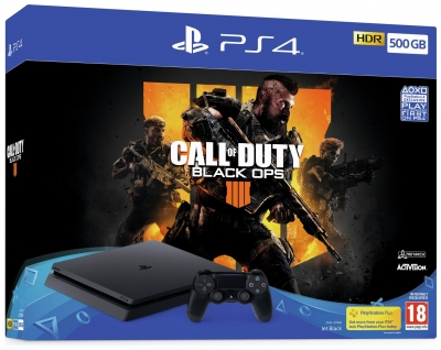 PS4 500GB Console & Call Of Duty Black Ops 4 Bundle