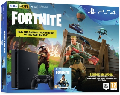 PS4 500GB With Fortnite Royal Bomber Pack Bundle