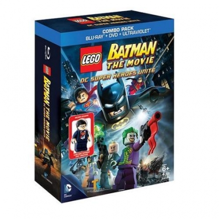 LEGO Batman The Movie - DC Super Heroes Unite Blu-ray + Clark Kent Minifigure