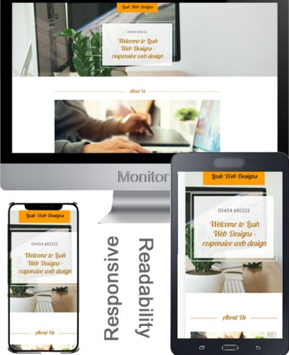 Responsive Web Design Example: Monitor, Tablet, Mobile Phone