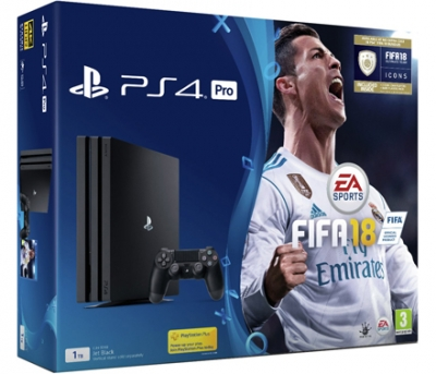 PS4 Pro Black 1TB with FIFA 18