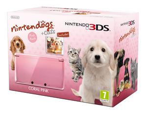 Nintendogs 3DS pink Cats + Dogs bundle