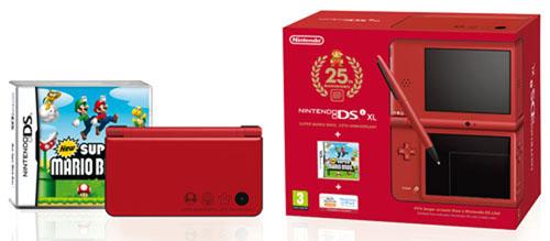 Nintendo DSi XL Red with New Super Mario Bros.