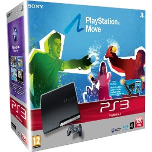 PS3 Slim 320GB with PlayStation Move