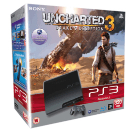 PS3 Slim 320gb with Uncharted 3