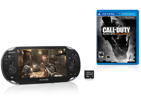 PS vita bundle with Black ops game and 4gb memory